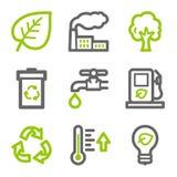Ícones do Web da ecologia ilustração do vetor