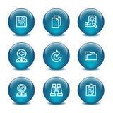 Ícones do Web da esfera de vidro, jogo 3 Imagem de Stock