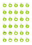 Ícones do Web da fruta ilustração royalty free