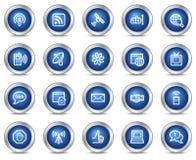 Ícones do Web de uma comunicação do Internet Imagens de Stock Royalty Free