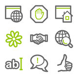 Ícones do Web de uma comunicação do Internet Imagem de Stock