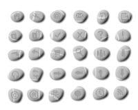 Ícones do Web do seixo ilustração stock
