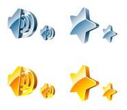 Ícones do Web do vetor Fotografia de Stock