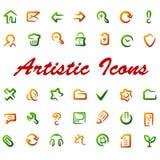 Ícones do Web do vetor. Imagem de Stock
