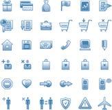 Ícones do Web do vetor ajustados ilustração stock