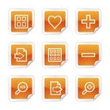 Ícones do Web do visor da imagem Fotografia de Stock Royalty Free