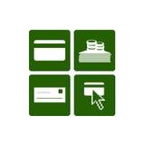 Ícones do Web dos métodos do pagamento Imagens de Stock Royalty Free