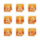 Ícones do Web dos usuários Imagem de Stock