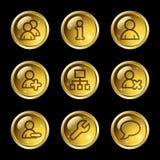 Ícones do Web dos usuários Imagens de Stock Royalty Free