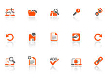 Ícones do Web e do escritório ilustração do vetor