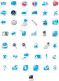 Ícones do Web - edição azul Fotos de Stock Royalty Free