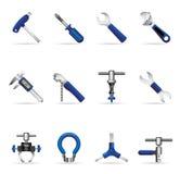 Ícones do Web - ferramentas da bicicleta Imagem de Stock Royalty Free