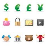 Ícones do Web - finança Foto de Stock Royalty Free
