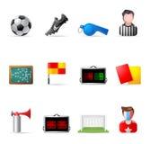 Ícones do Web - futebol Imagens de Stock