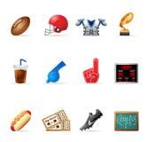 Ícones do Web - futebol americano Imagem de Stock Royalty Free