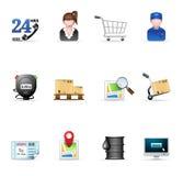 Ícones do Web - logísticos Fotos de Stock