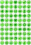Ícones do Web no verde Fotos de Stock