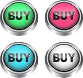 Ícones do Web para o comércio electrónico Fotos de Stock