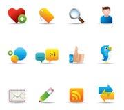 Ícones do Web - rede social Imagem de Stock