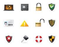 Ícones do Web - segurança Imagens de Stock Royalty Free