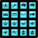 Ícones do Web site Fotografia de Stock