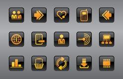 Ícones do Web site & do Internet Imagens de Stock