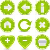 Ícones do Web site e do Internet Fotografia de Stock