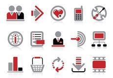 Ícones do Web site e do Internet Imagens de Stock