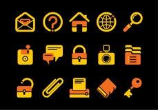 Ícones do Web site e do Internet Fotos de Stock