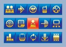 Ícones do Web site e do Internet Foto de Stock Royalty Free
