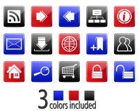 Ícones do Web site e do Internet Vetor Foto de Stock