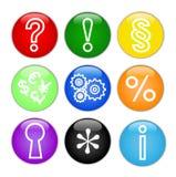 Ícones do Web, teclas. Vetor. Fotografia de Stock Royalty Free