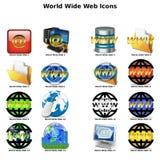 Ícones do world wide web Fotografia de Stock Royalty Free