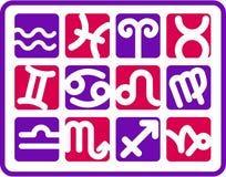 Ícones do zodíaco Imagens de Stock Royalty Free