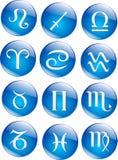Ícones do zodíaco do vetor Foto de Stock