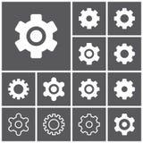 Ícones dos ajustes Fotografia de Stock