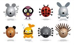 Ícones dos animais Fotografia de Stock Royalty Free