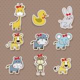 Ícones dos animais Imagens de Stock