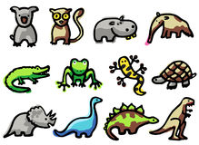 Ícones dos animais Fotos de Stock Royalty Free