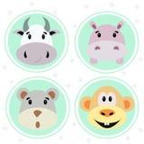 Ícones dos animais ajustados Foto de Stock Royalty Free