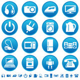 Ícones dos aparelhos electrodomésticos Fotografia de Stock Royalty Free