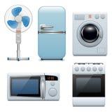 Ícones dos aparelhos electrodomésticos do vetor Imagens de Stock