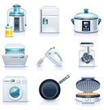 Ícones dos aparelhos electrodomésticos do vetor. Parte 3 ilustração stock