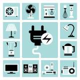 Ícones dos aparelhos eletrodomésticos ilustração stock