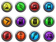 Ícones dos aparelhos eletrodomésticos ajustados Imagem de Stock Royalty Free