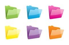 Ícones dos arquivos Fotografia de Stock