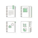 Ícones dos artigos de papelaria Imagem de Stock