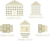 Ícones dos bens imobiliários Fotos de Stock Royalty Free