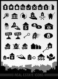 Ícones dos bens imobiliários Imagem de Stock