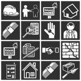 Ícones dos bens imobiliários Foto de Stock Royalty Free
